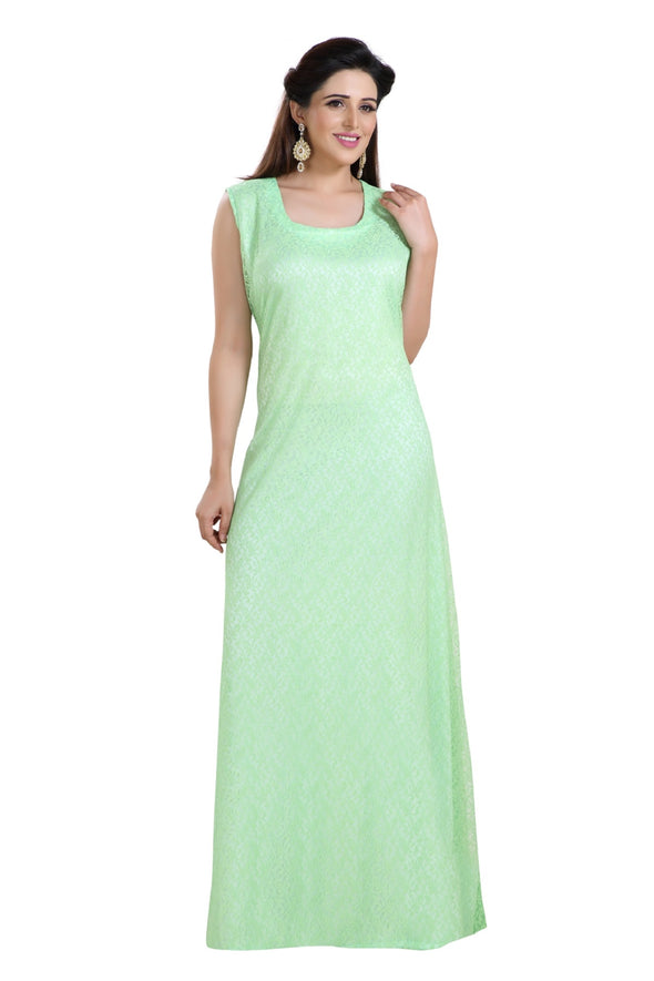 FLUORESCENT GREEN ROBE LADIES MAXI DRESS - Maxim Creation