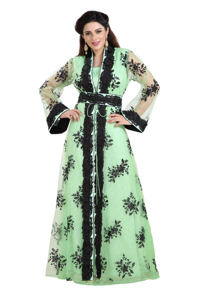Dubai Traditional Wear Ladies Bridal Kaftan - Maxim Creation