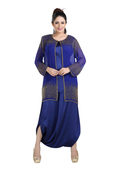 ARABIC PARTY DRESS GEORGETTE WITH SATIN FABRIC FUSTAN - Maxim Creation
