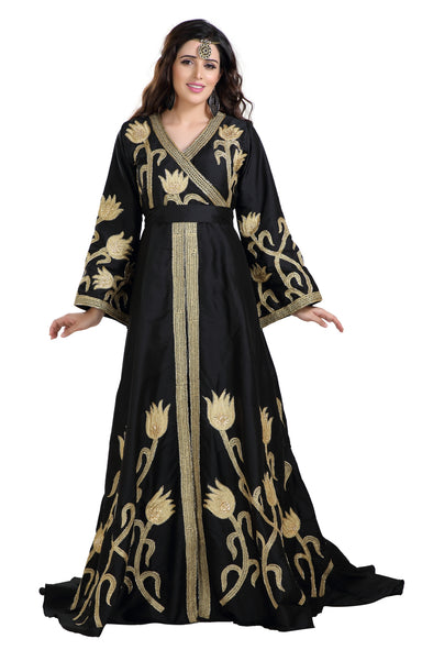 BYZANTINE NIQAH DRESS JASMINE BRIDESMAID KAFTAN - Maxim Creation