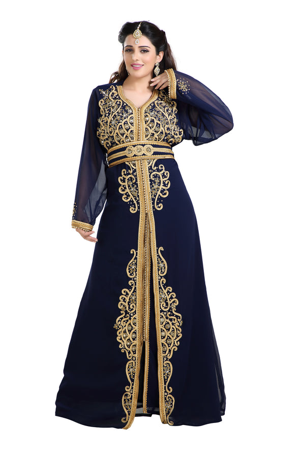 TRADITIONAL ALGERIAN MAXI DRESS WALIMA GOWN - Maxim Creation