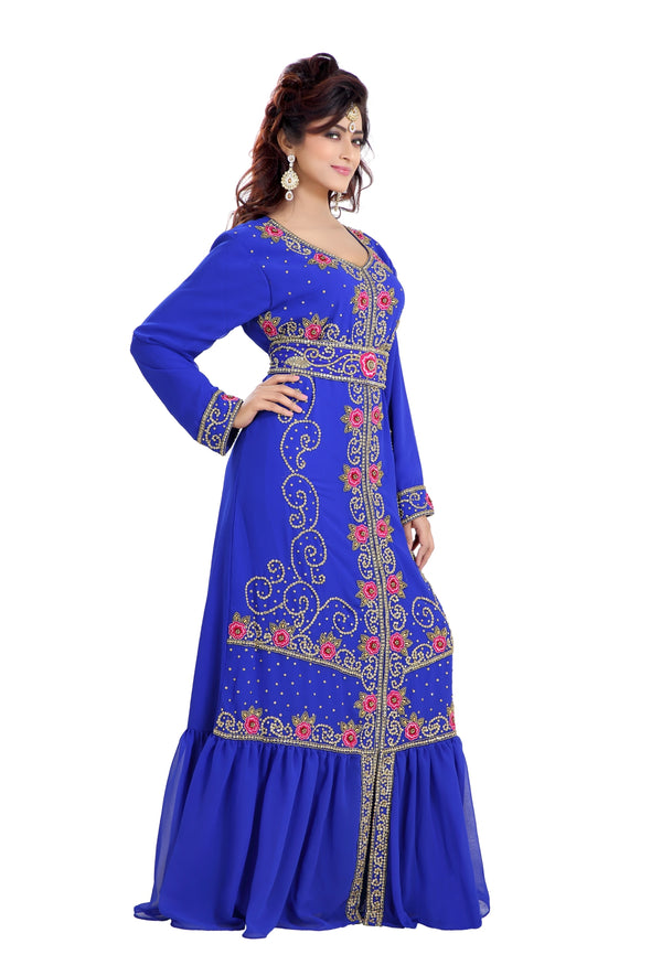TRADITIONAL ALGERIAN CAFTAN CULTURAL MAXI DRESS 8188