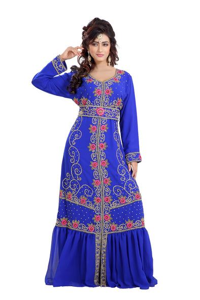 TRADITIONAL ALGERIAN CAFTAN CULTURAL MAXI DRESS - Maxim Creation