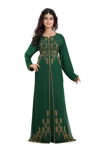 HAND EMBROIDERED ARABIC TRADITIONAL DRESS 8190