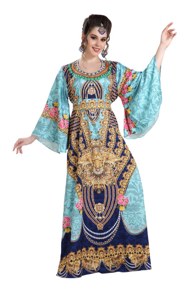 DIGITAL PRINTED MAXI DRESS FOR ARABIAN