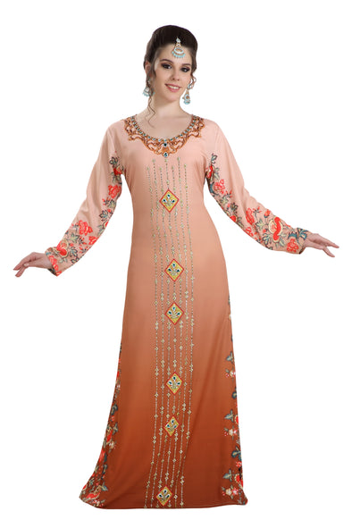 DUBAI DIGITAL PRINTED MAXI DRESS ROBE