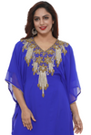 Royal Blue Dubai Kaftan Farasha - Maxim Creation