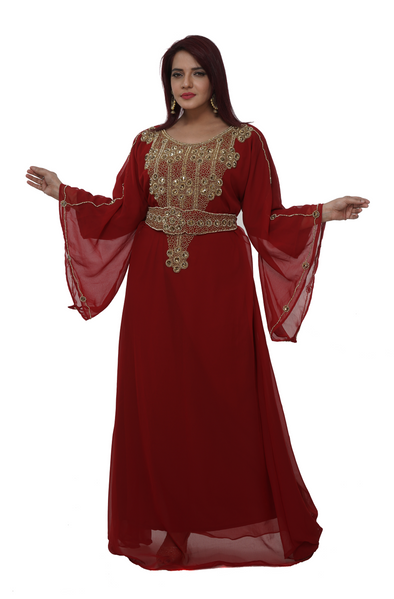 Moroccan Caftan with Crystal - Maxim Creation