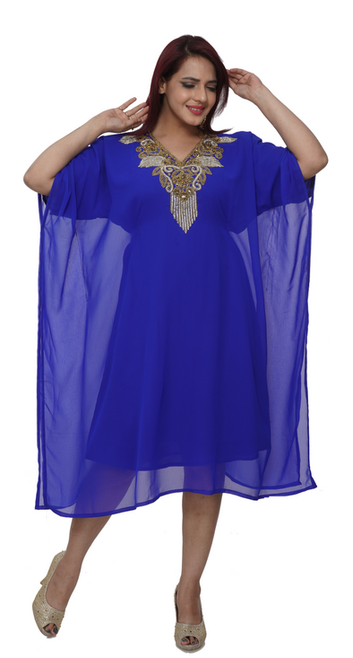 Royal Blue Style Farasha (Knee Length Kurti) - Maxim Creation