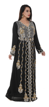 Moroccan Wedding Kaftan with Belt - Maxim Creation