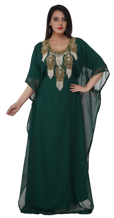 Party Wear Moroccan Kaftan Gown Maxi - Maxim Creation