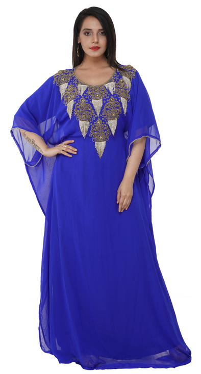 Moroccan Kaftan Tea Party Dress - Maxim Creation