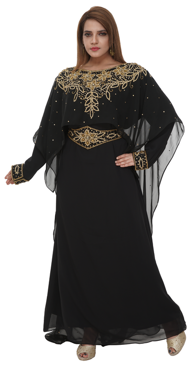 Iranian Aztec Gown with Floral Embroidery - Maxim Creation