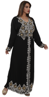 Iranian Designer Abaya with Emboidery Work - Maxim Creation