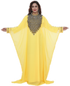 Arabian Kaftan with Chequered Embroidery Work - Maxim Creation