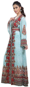 Red Rose Floral Digital Printed Kaftan - Maxim Creation