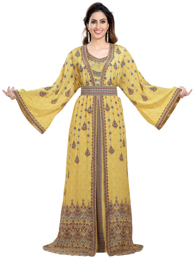 Hand Crafted Digital Printed Abaya Maxi - Maxim Creation