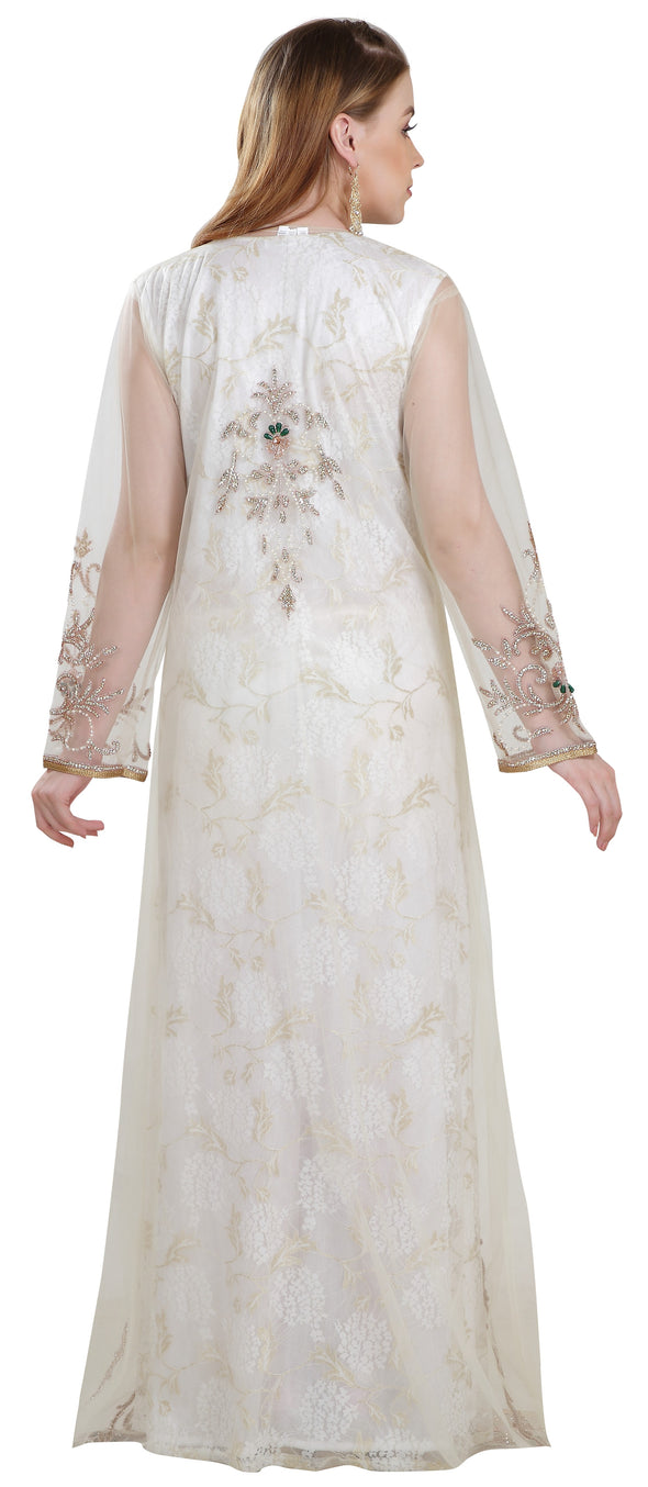 Kaftan Dress Embroidered Gown - Maxim Creation