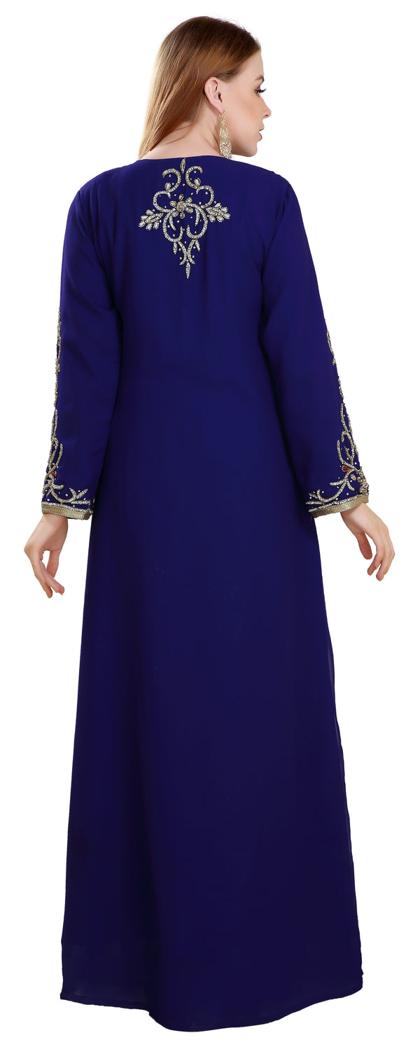 Persian Abaya Designer Kaftan Dress - Maxim Creation