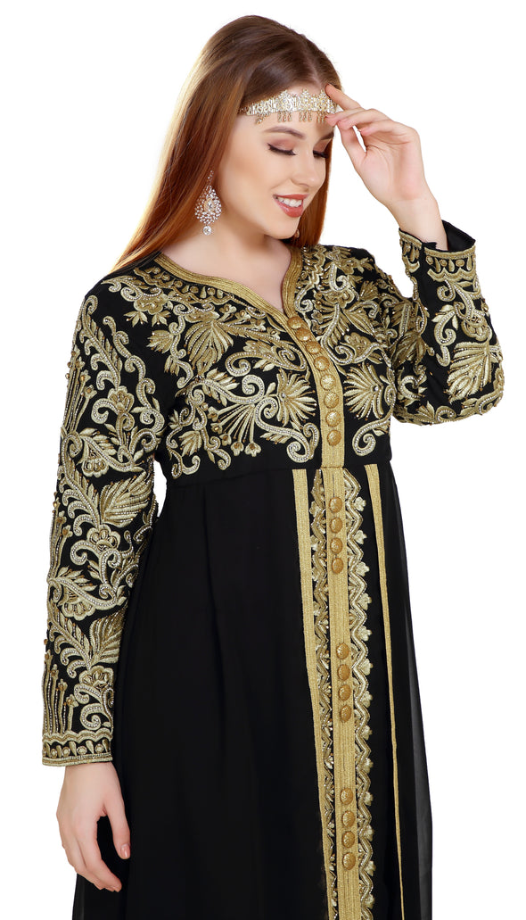 Kaftan Gown TeaParty Dress - Maxim Creation