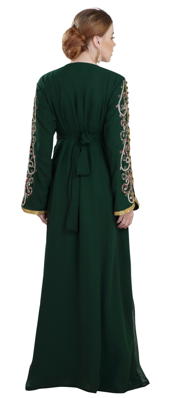 Wedding Gown Abaya Dress - Maxim Creation