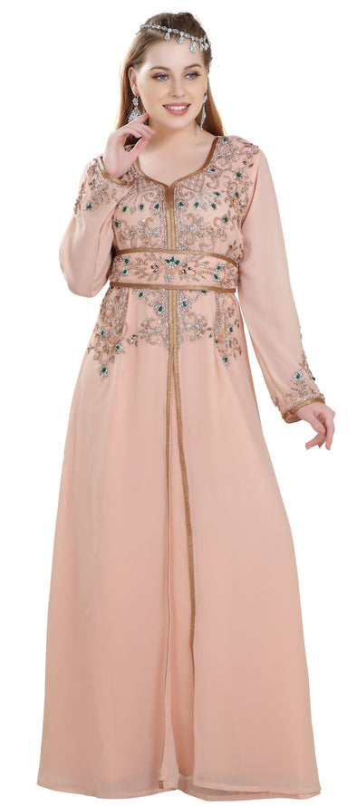 Henna Party Gown Wedding Caftan - Maxim Creation
