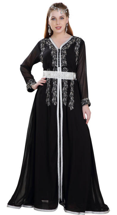 Designer Caftan with Crystal Luxe Bead - Maxim Creation