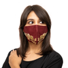 Red Coloured Cotton Face Mask with Petal Textured Embroidery - Maxim Creation