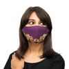 Floral Embroidery on Purple Coloured Cotton Face Mask - Maxim Creation