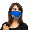 Petal Textured Embroidery on Royal Blue Cotton Face Mask - Maxim Creation