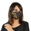 Black Cotton Mask with Floral Embroidery - Maxim Creation