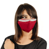 Red Cotton Face Mask with Hanging Tassel Embroidery - Maxim Creation