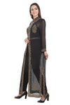 Black Overcoat Embroidered Kurti for Women - Maxim Creation
