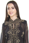 Golden Sequins Embellishmants Hand Embroidered Cardigan - Maxim Creation