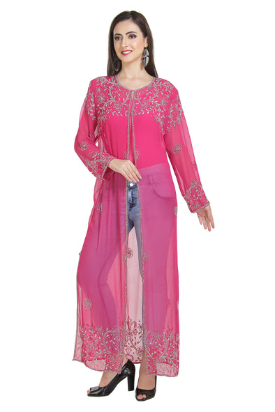 Crystal Embroidery Overcoat Bollywood Long Maxi - Maxim Creation