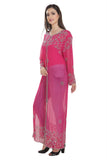 Crystal Embroidery Overcoat Bollywood Long Maxi 7206