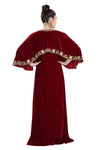 Winter Collection Embroidered Maxi in Maroon Velvet - Maxim Creation
