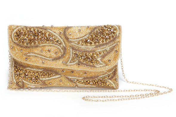 CRYSTAL BEADED WEDDING CLUTCH FOR WOMEN - Maxim Creation
