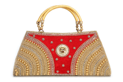 LADIES HANDHELD PARTY CLUTCH WITH EMBROIDERY - Maxim Creation