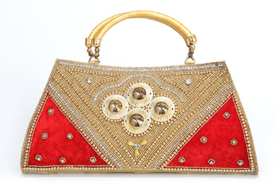 RHINESTONE & SEQUIN BEADED LADIES HAND PURSE - Maxim Creation