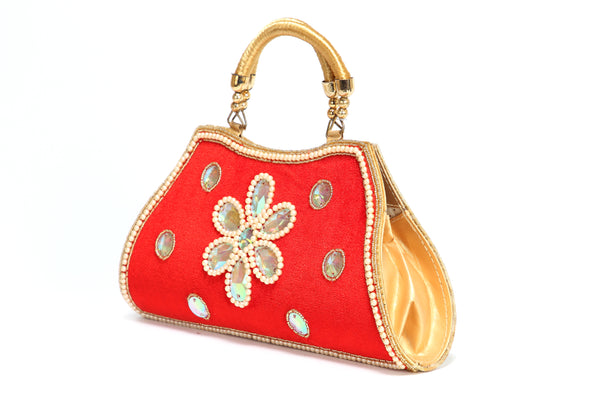 TRADITIONAL STYLE LADIES HAND CLUTCH - Maxim Creation