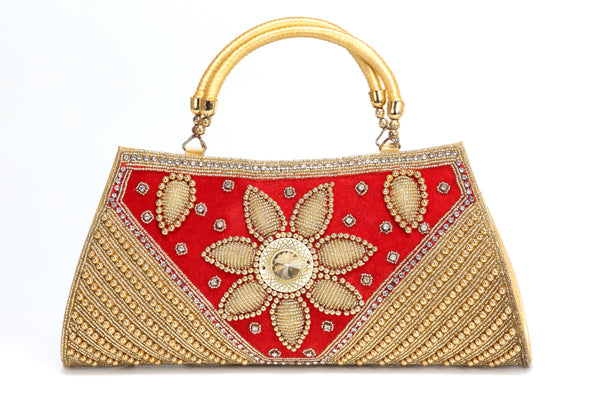 HEAVY BEADED WEDDING BATWA PURSE - Maxim Creation