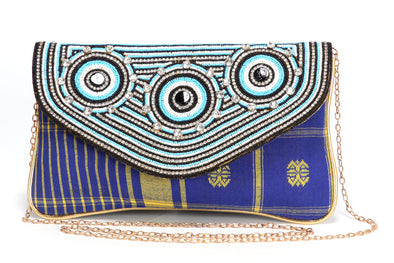 TRIBAL STYLE BEADED HANDHELD CLUTCH - Maxim Creation