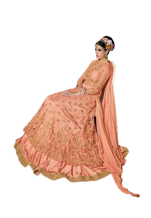 Peach Wedding Sharara Punjabi Suit 102