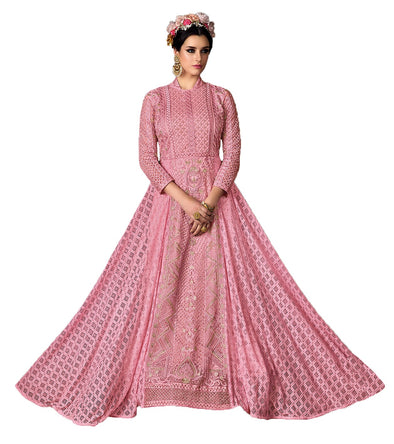 Pink Indian Wedding Gown Traditional Sharara 105 - Maxim Creation