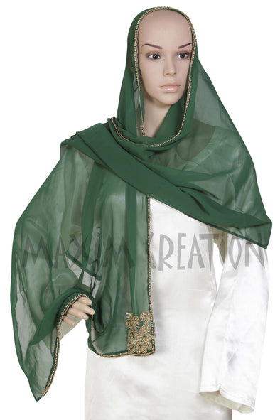 HAND EMBROIDERED SCARF HIJAB S1 - Maxim Creation