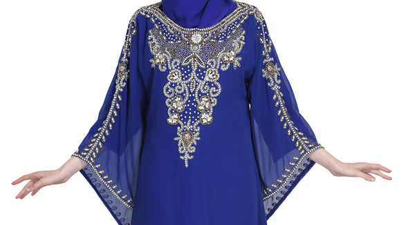 Designer Abaya With Crystal Luxe Beads - Maxim Creation