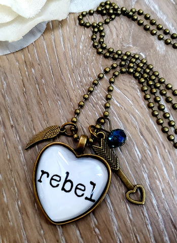 Rebel Heart Pendant Necklace