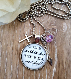 God is Within Her... Pendant Necklace