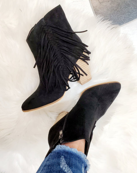 Made For Walkin' Fringe Booties